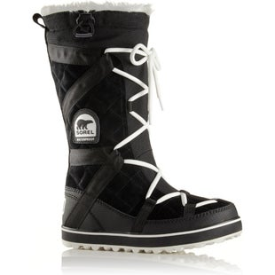 Sorel Glacy Explorer Faux Fur Ladies Boots - Black
