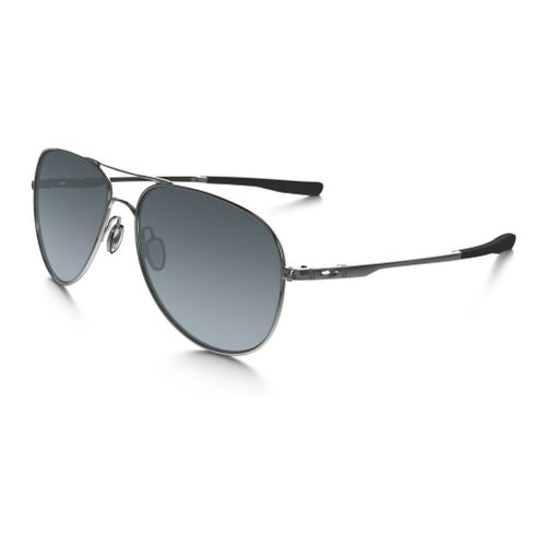Oakley Elmont Polarised Sunglasses - Polished Chrome ~ Grey Gradient