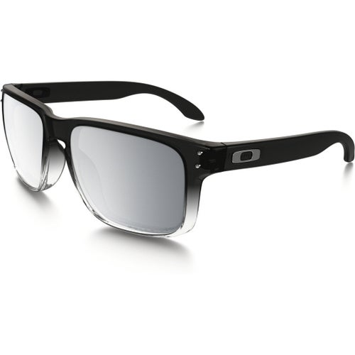 Oakley Holbrook Polarised Sunglasses - Grey Ink Fade ~ Chrome Iridium