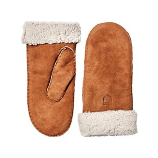 Hestra Sheepskin Ladies Mittens - Cork
