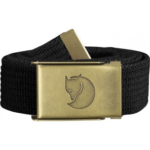Fjallraven Canvas Brass 3cm Web Belt - Black