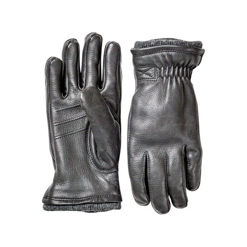 Hestra Deerskin Swiss Wool Rib Cuff Gloves
