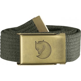 Fjallraven Canvas Brass 3cm Web Belt - Mountain Grey