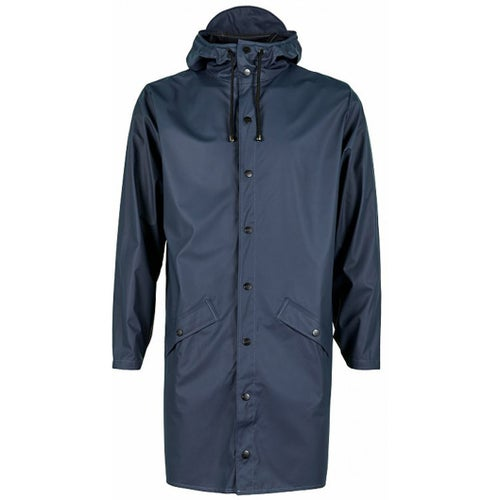 Rains Long Jacket - Blue