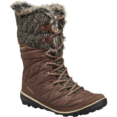 Columbia Heavenly Omni Heat Knit Ladies Boots - Tobacco Dark Mirage
