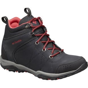 Columbia Fire Venture Mid Waterproof Ladies Boots - Black Burnt Henna