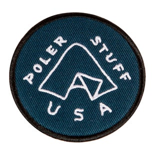 Poler Iron On Patch - Tent Blue