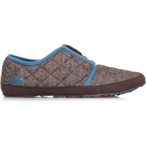 North Face Thermoball Traction Mule II Ladies Slippers - Tweed Print Tapestry Blue