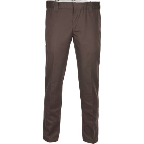 Dickies 873 Slim Straight Work Pants - Chocolate Brown