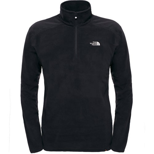 North Face 100 Glacier Quarter Zip Fleece - TNF Black