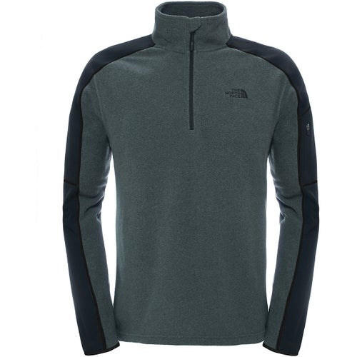 North Face Glacier Delta Quarter Zip Fleece - TNF Dark Grey Heather