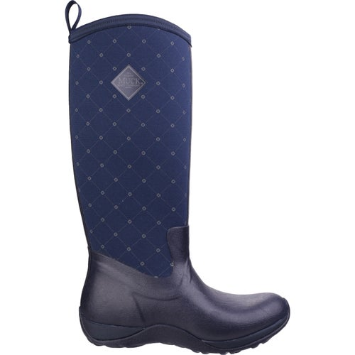 Muck Boots Arctic Adventure Ladies Wellies - Navy Castlerock Print