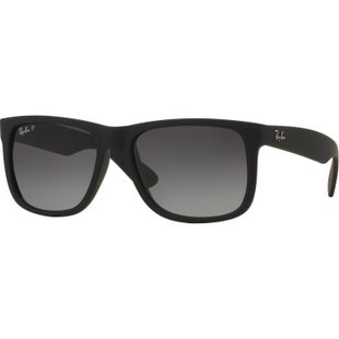 Ray-Ban Justin Polarised Sunglasses - Black ~ Grey Gradient