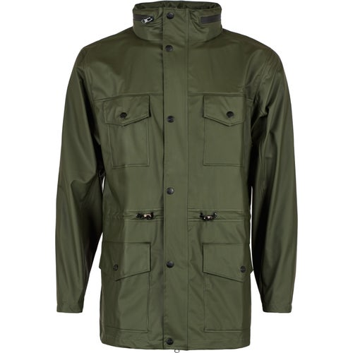 Rains Four Pocket Jacket - Green