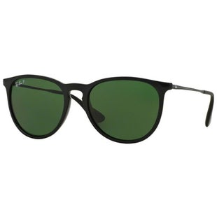 Ray-Ban Erika Polarised Ladies Sunglasses - Black ~ Polar Green