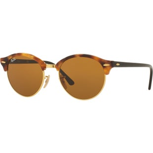 Ray-Ban Clubround Sunglasses - Spotted Brown Havana Tort ~ Brown