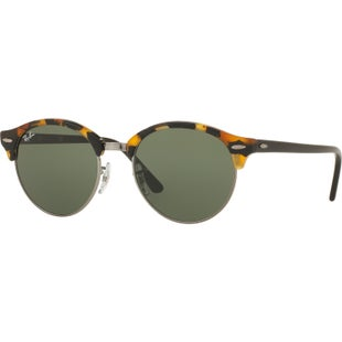 Ray-Ban Clubround Sunglasses - Spotted Black Havana Tort ~ Green
