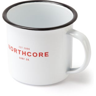 Northcore Adventure Enamel Steel Cup - White