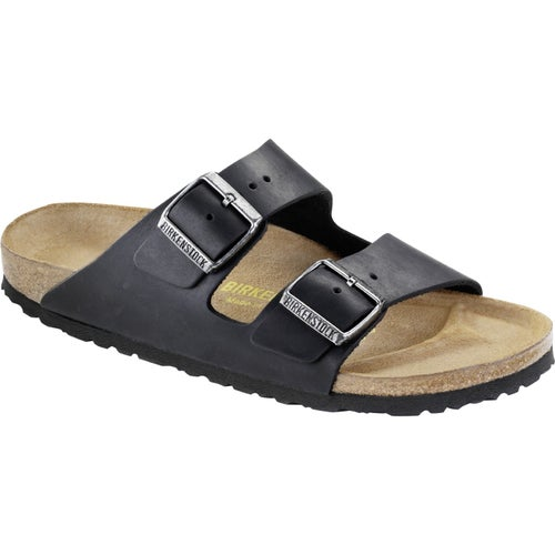 Birkenstock Arizona Oiled Leather Sandals - Black
