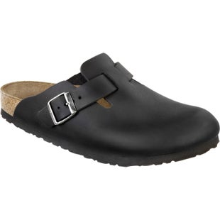 Birkenstock Boston Oiled Leather Slip On Shoes - Schwarz