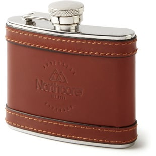 Northcore Adventure 4 oz Leather Hip Flask - Brown