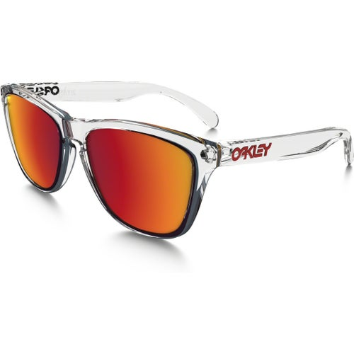 Oakley Frogskins Crystal Collection Sunglasses - Polished Clear ~ Torch Iridium
