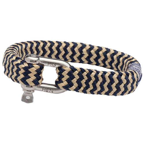 Pig and Hen Bombay Barry Bracelet - Navy Gold