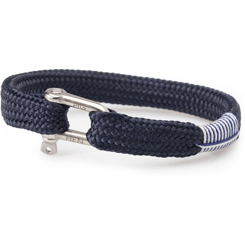 Pig and Hen Sharp Simon Bracelet - Navy Silver