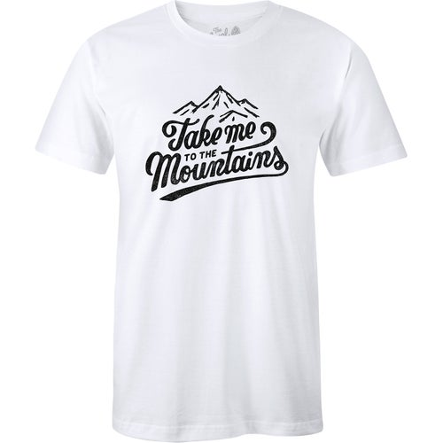 The Level Collective Take Me To The Mountains T Shirt - White