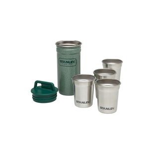 Stanley Adventure Shot Glass Set x 4 Camping Accessory - Steel Green