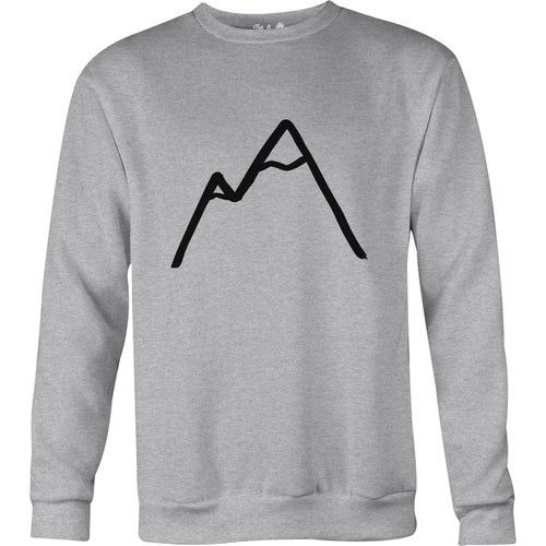 The Level Collective Simple Mountain Sweater - Light Grey