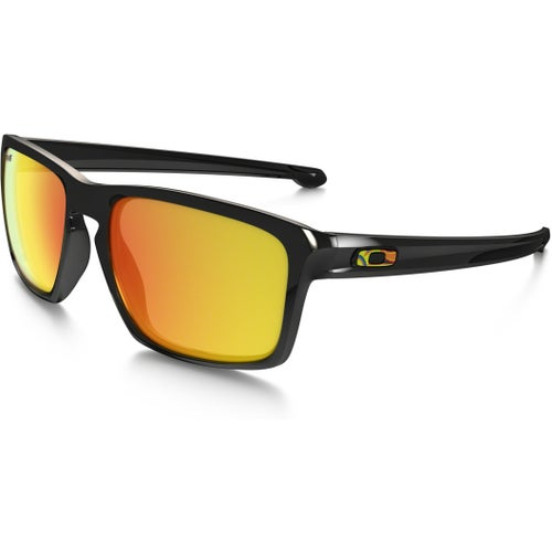 Oakley Sliver VR46 Valentino Rossi Sunglasses - Polished Black ~ Fire Iridium