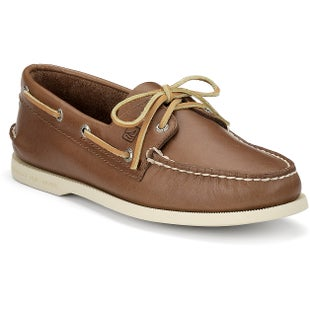 Sperry Authentic Original 2 Eye Slip On Shoes - Tan Leather