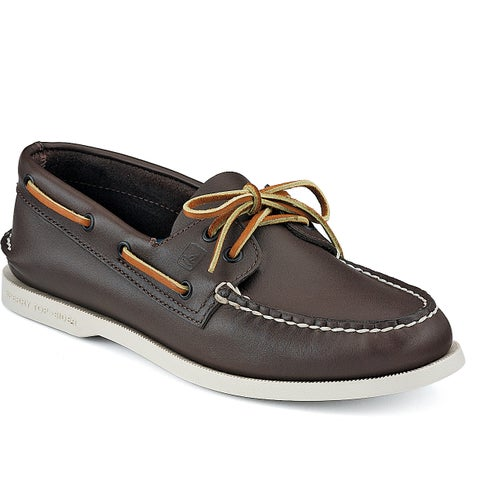 Sperry Authentic Original 2 Eye Slip On Shoes - Classic Brown Leather