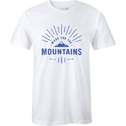 The Level Collective Made For The Mountains T Shirt - White