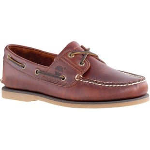 Timberland Classic 2 Eye Boat Slip On Shoes - Rootbeer Smooth