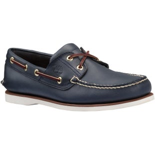 Timberland Classic 2 Eye Boat Slip On Shoes - Navy Smooth