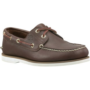 Timberland Classic 2 Eye Boat Slip On Shoes - Dark Brown Smooth