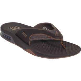 Reef Leather Fanning Sandals - Brown