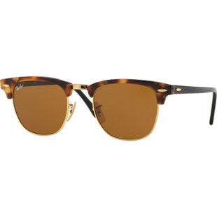 Ray-Ban Clubmaster Sunglasses - Spotted Brown Havana ~ Brown
