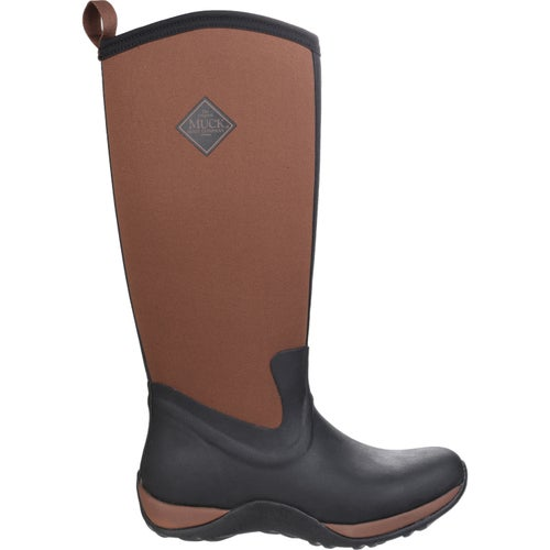 Muck Boots Arctic Adventure Ladies Wellies - Black Tan