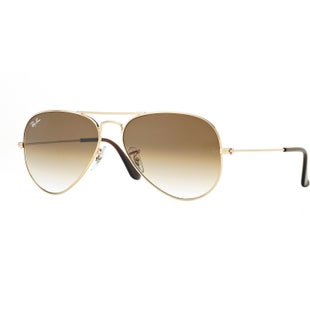 Ray-Ban Aviator Large Sunglasses - Gold ~ Crystal Brown Gradient
