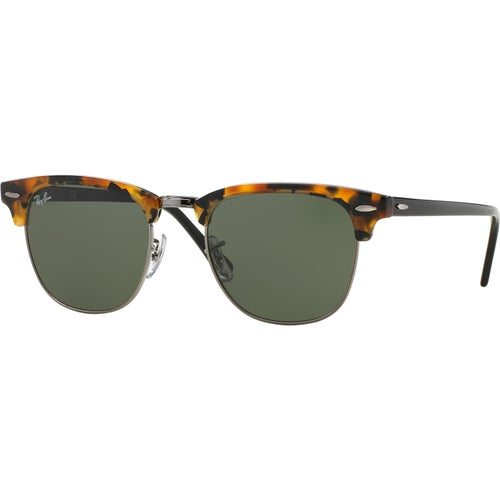 Ray-Ban Clubmaster Sunglasses - Spotted Black Havana ~ Green