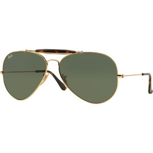 Ray-Ban Outdoorsman II Sunglasses - Gold ~ Dark Green