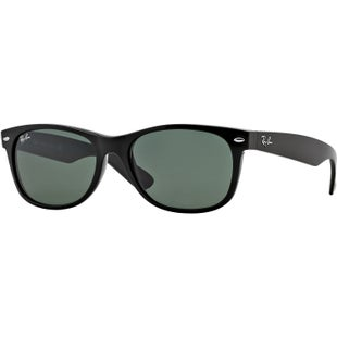 Ray-Ban New Wayfarer Sunglasses - Black ~ Crystal Green