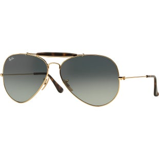 Ray-Ban Outdoorsman II Sunglasses - Gold ~ Light Grey Gradient Dark Grey