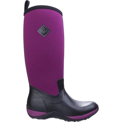 Muck Boots Arctic Adventure Ladies Wellies - Black Maroon
