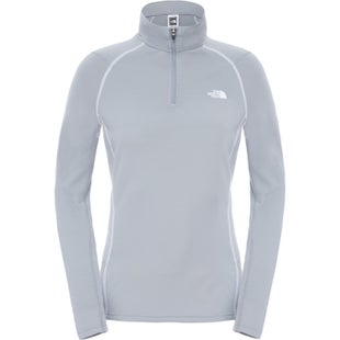 North Face Warm L S Zip Neck Ladies Base Layer Top - Monument Grey