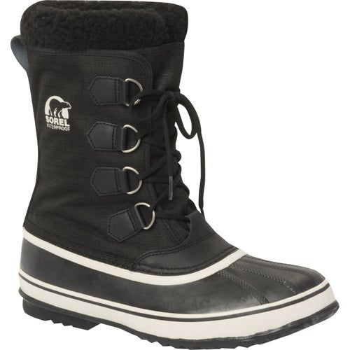 Sorel 1964 Pac Nylon Faux Fur Boots - Black Tusk