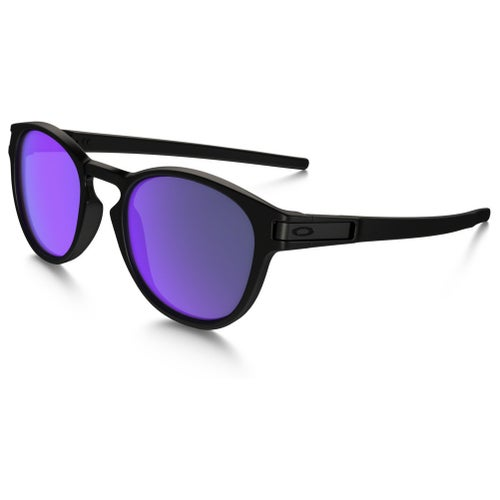 Oakley Latch Sunglasses - Matte Black ~ Violet Iridium
